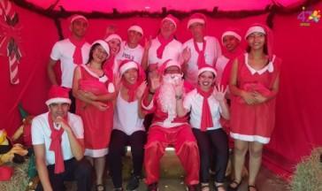 Papai Noel chegou na APAE-Franca