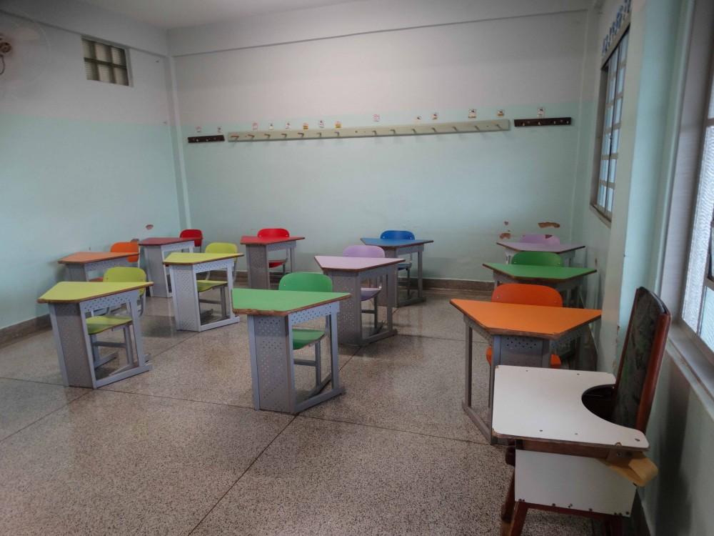 Sala de aula da Escola de Educação Especial João Maria Vianney