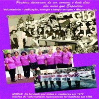 Voluntariado presente na história da APAE-FRANCA: MOPAE fundado por mães e senhoras em 1977 e Núcleo do Voluntariado APAExonado em 1992.